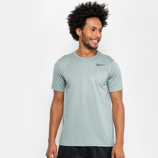 Camiseta Nike Brt Ss Vent Masculina - Verde+Preto