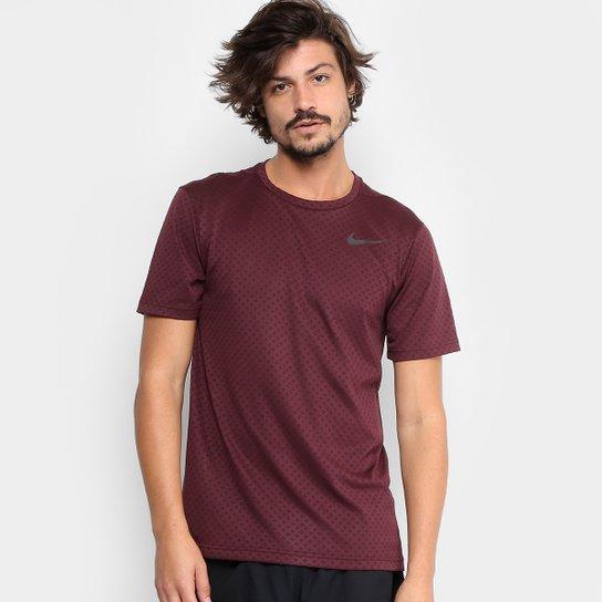 Camiseta Nike Brt Ss Vent Masculina - Vinho+Preto