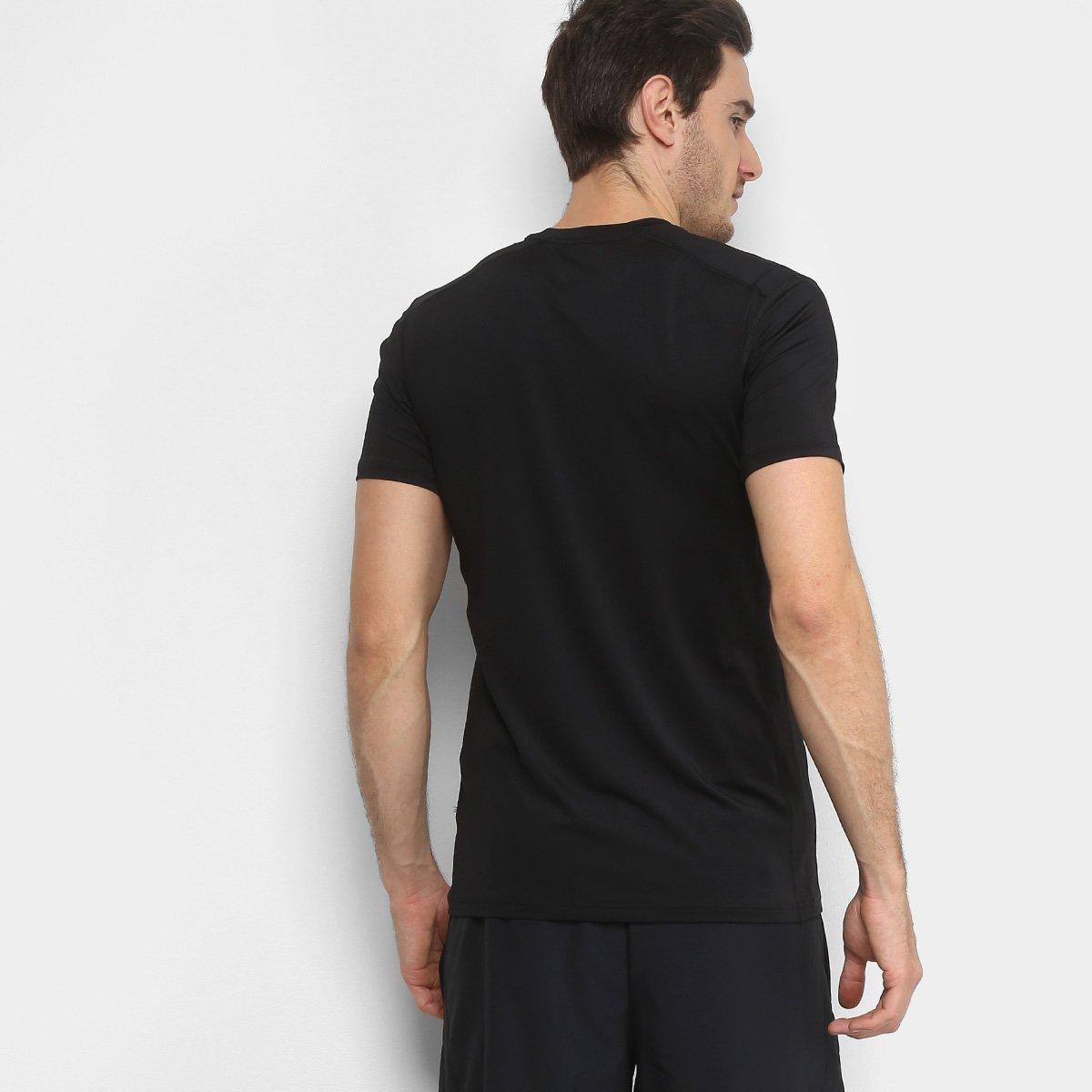 011256b990 Camiseta Nike Bslyr Top Ss 2L Camo Masculina - Preto e Branco ...