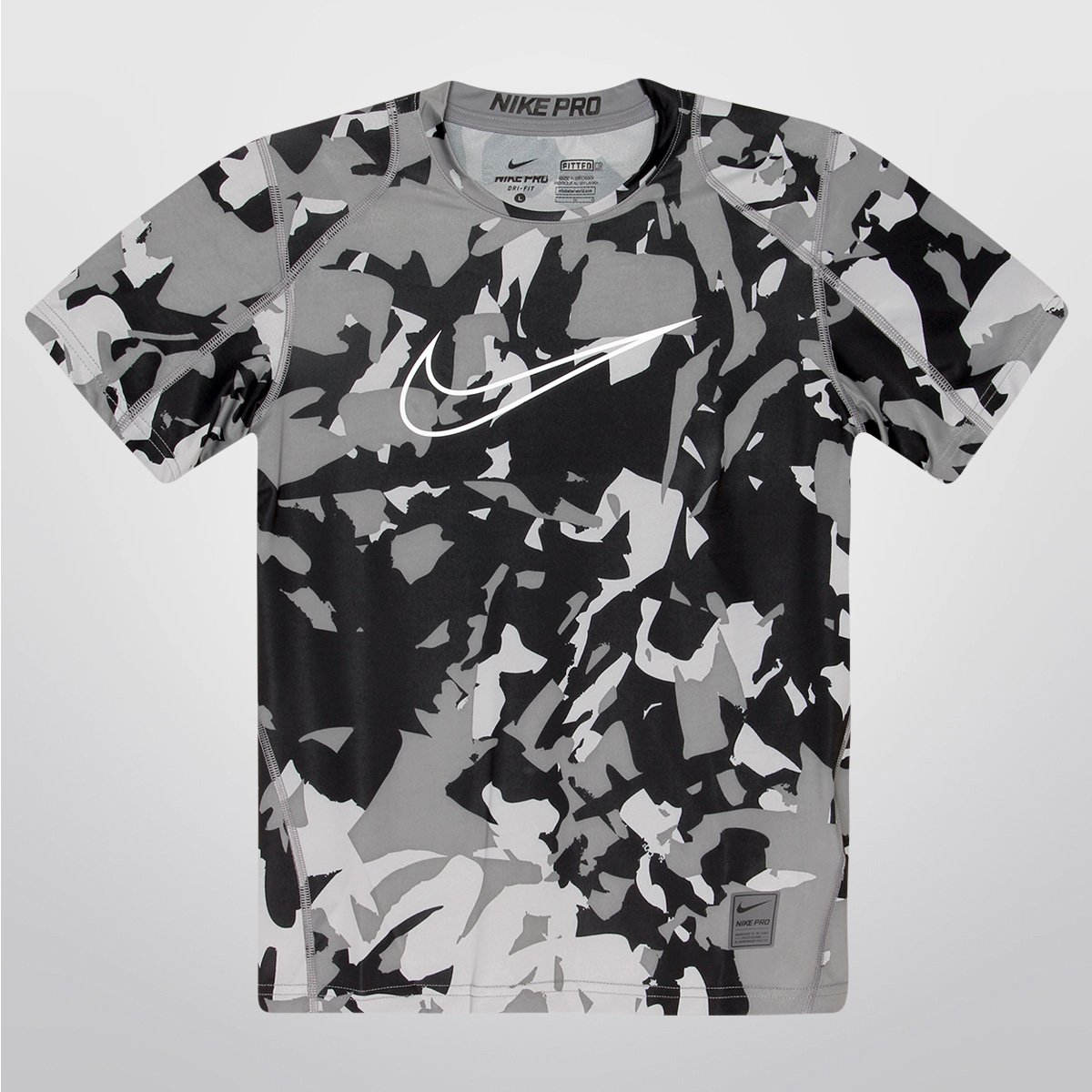 8605774bd9ffa Camiseta Nike Cool Aop Fitted Ss Infantil - Compre Agora