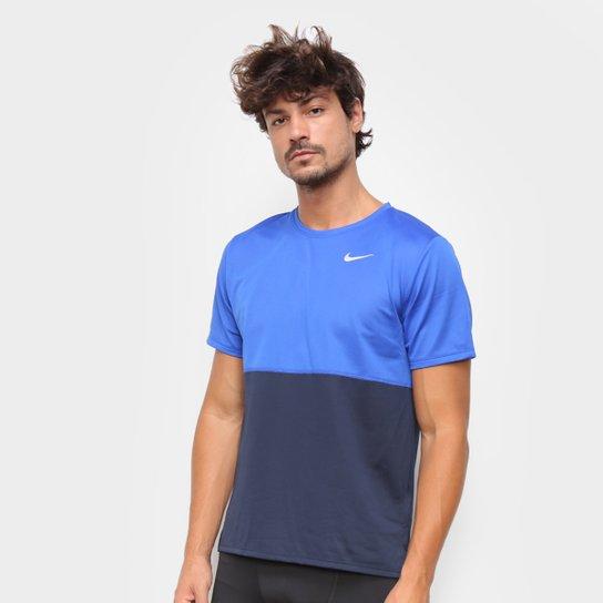 Camiseta Nike Dri-Fit Breathe Run Masculina - Azul Royal+Preto