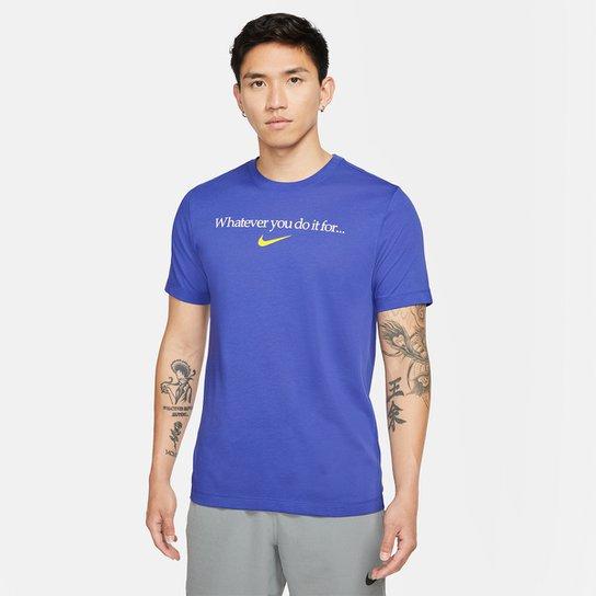 Camiseta Nike Dri-FIT Graphic Training Masculina - Azul Royal
