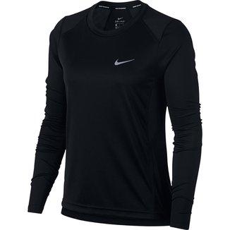 Camiseta Nike DRI-FIT Miler Manga Longa Feminina
