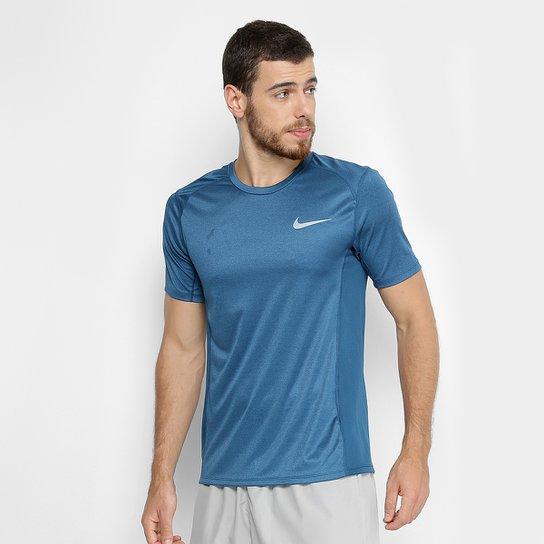 Camiseta Nike Dri-Fit Miler Masculina - Azul Petróleo