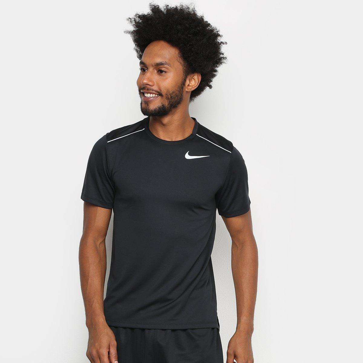 descubre las últimas tendencias llegando baratas para la venta Camiseta Nike DRI-FIT Miler Masculina - Preto
