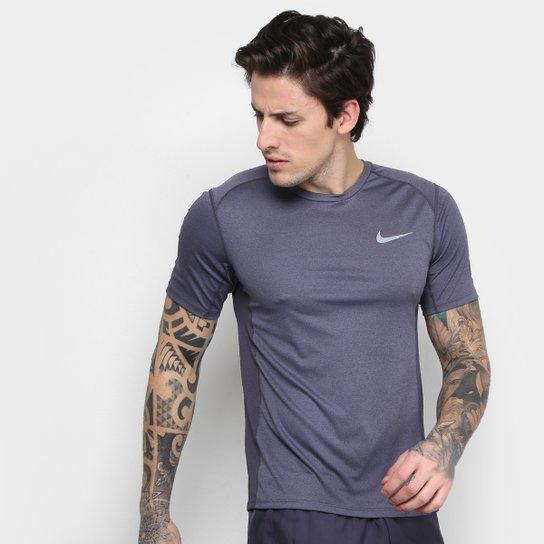 Camiseta Nike Dri-Fit Miler Masculina - Mescla