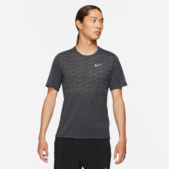 Camiseta Nike Dri-fit Run Division Masculina - Preto+Prata