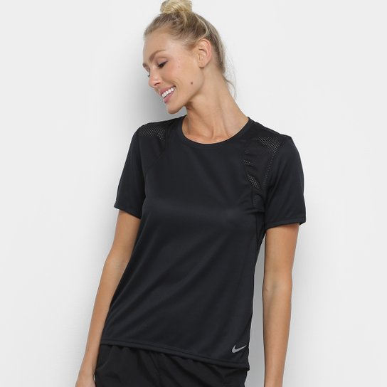 Camiseta Nike Dri-Fit Run Feminina - Preto