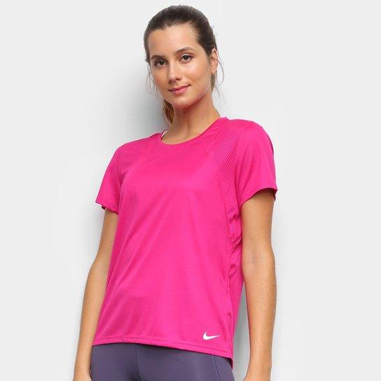 Camiseta Nike Dri-Fit Run Feminina - Pink+Rosa