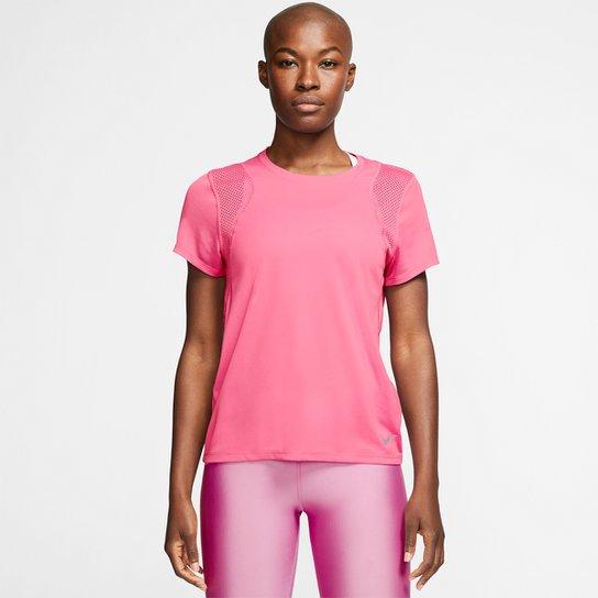 Camiseta Nike Dri-Fit Run Feminina - Rosa+Bege
