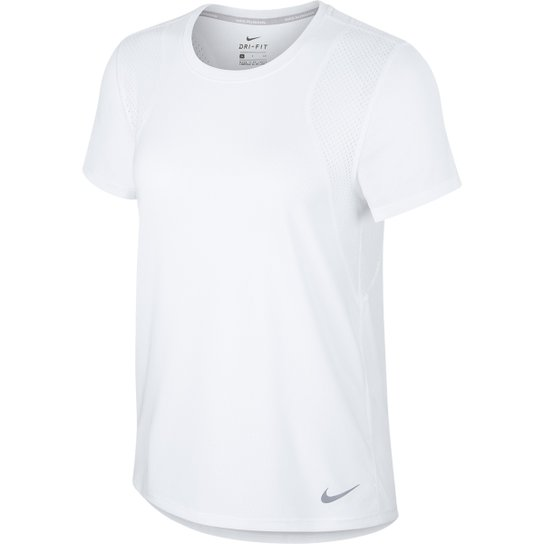 Camiseta Nike Dri-Fit Run Feminina - Branco