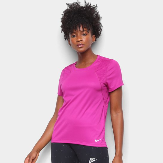 Camiseta Nike Dri-Fit Run Feminina - Violeta+Prata