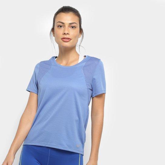 Camiseta Nike Dri-Fit Run Feminina - Azul Navy