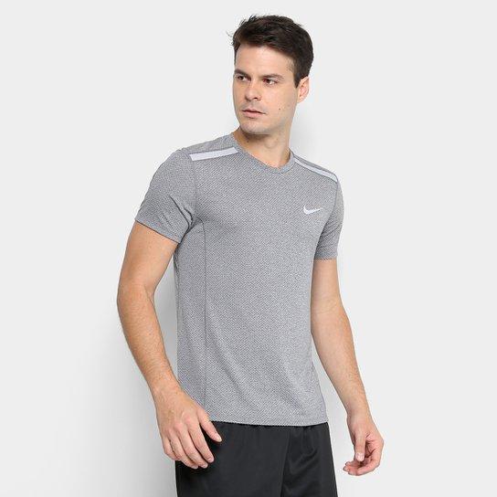 Camiseta Nike Dry Cool Miler SS Masculina - Cinza