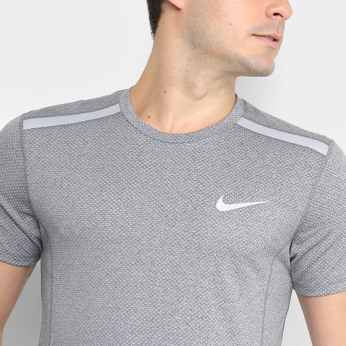 a16837e40d Camiseta Nike Dry Cool Miler SS Masculina - Cinza - Compre Agora ...