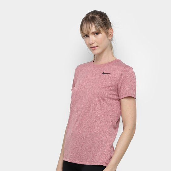 Camiseta Nike Dry Leg Tee Crew Feminina - Rosê