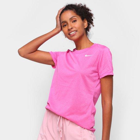 Camiseta Nike Dry Leg Tee Crew Feminina - Rosa+Bege