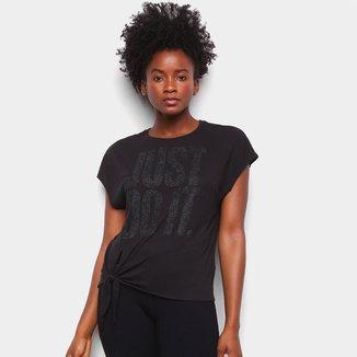 Camiseta Nike Dry Ss Top Tie Feminina