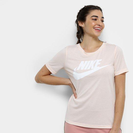 Camiseta Nike Essential Feminina - Branco+Cinza