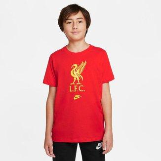 Camiseta Nike Liverpool Futura Crest Infantil