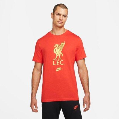 Camiseta Nike Liverpool Futura Crest Masculina