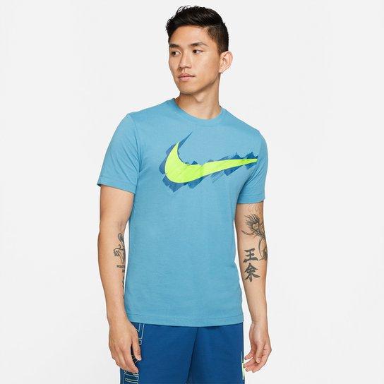Camiseta Nike Logo Masculina - Azul