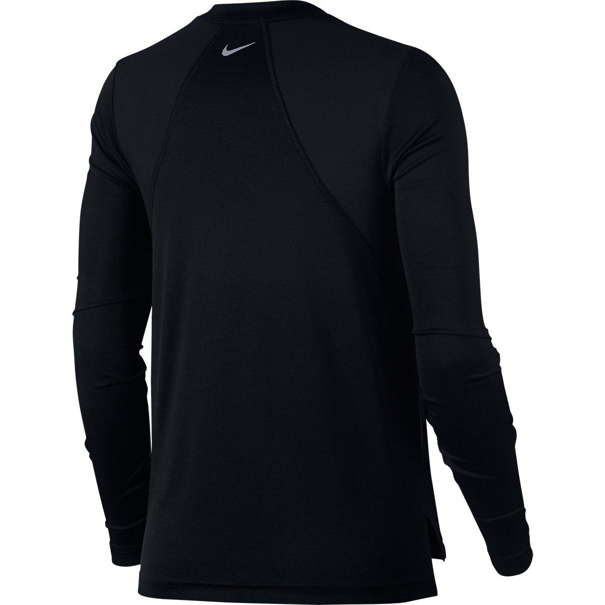 Camiseta Nike Miler Manga Longa Feminina - Preto - Compre Agora ... a42ac0d9d3e5a