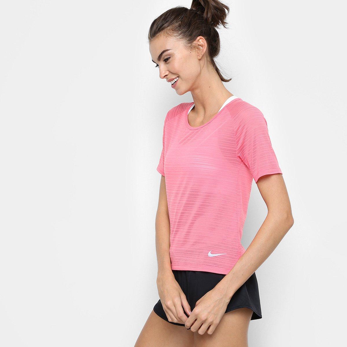 Rosa Rosa SS Feminina Nike Camiseta Feminina Miler Camiseta SS Nike Breathe Miler Breathe 1dwT77q