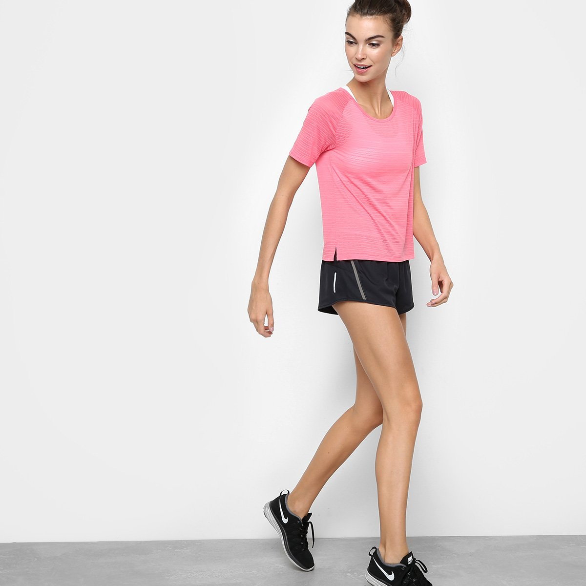 Nike Breathe Breathe Feminina Miler Camiseta Rosa SS Miler Feminina Camiseta Camiseta Rosa Nike SS Nike Ogg7wxtn