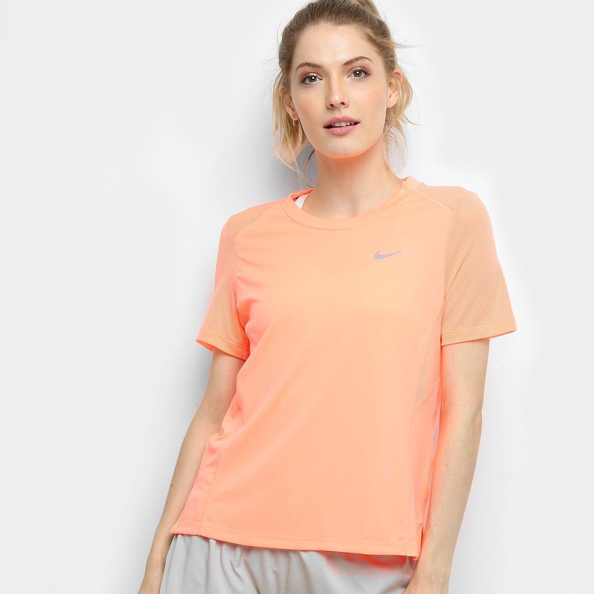Ss Netshoes Agora Camiseta Miler Compre Coral Feminina E Azul Nike ww8SEz