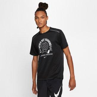 Camiseta Nike Miler SS Wild Run GX PO Masculina