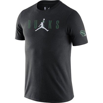 Camiseta Nike Milwaukee Bucks Courtside Jordan Masculina