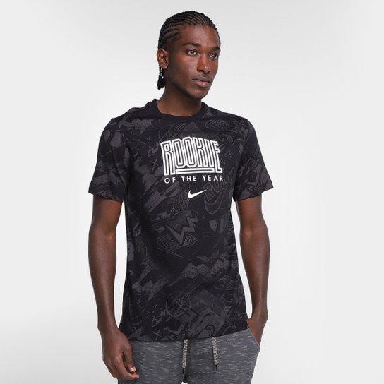 Camiseta Nike NBA ROY Select Series Courtside Masculina - Preto