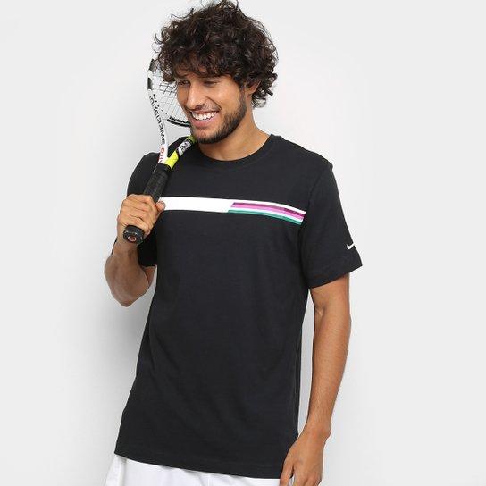Camiseta Nike Nkct Tee Gx Masculina - Preto+Branco