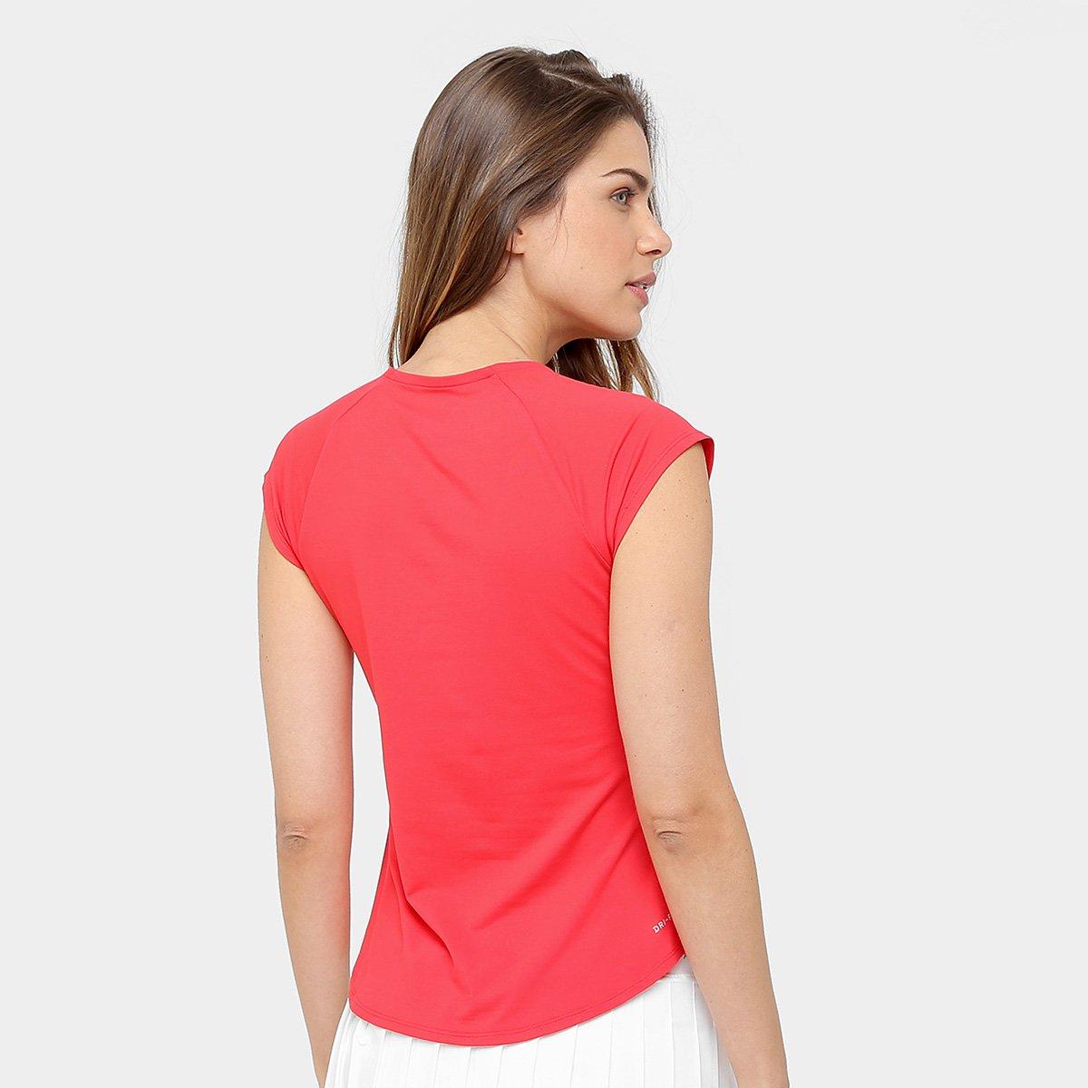 Camiseta Nike Pure Feminina - Vermelho e Branco - Compre Agora ... 0fe12d56e5d43