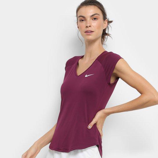 Camiseta Nike Pure Feminina - Bordô