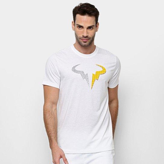 Camiseta Nike Rafa Dry Masculina - Branco+Laranja