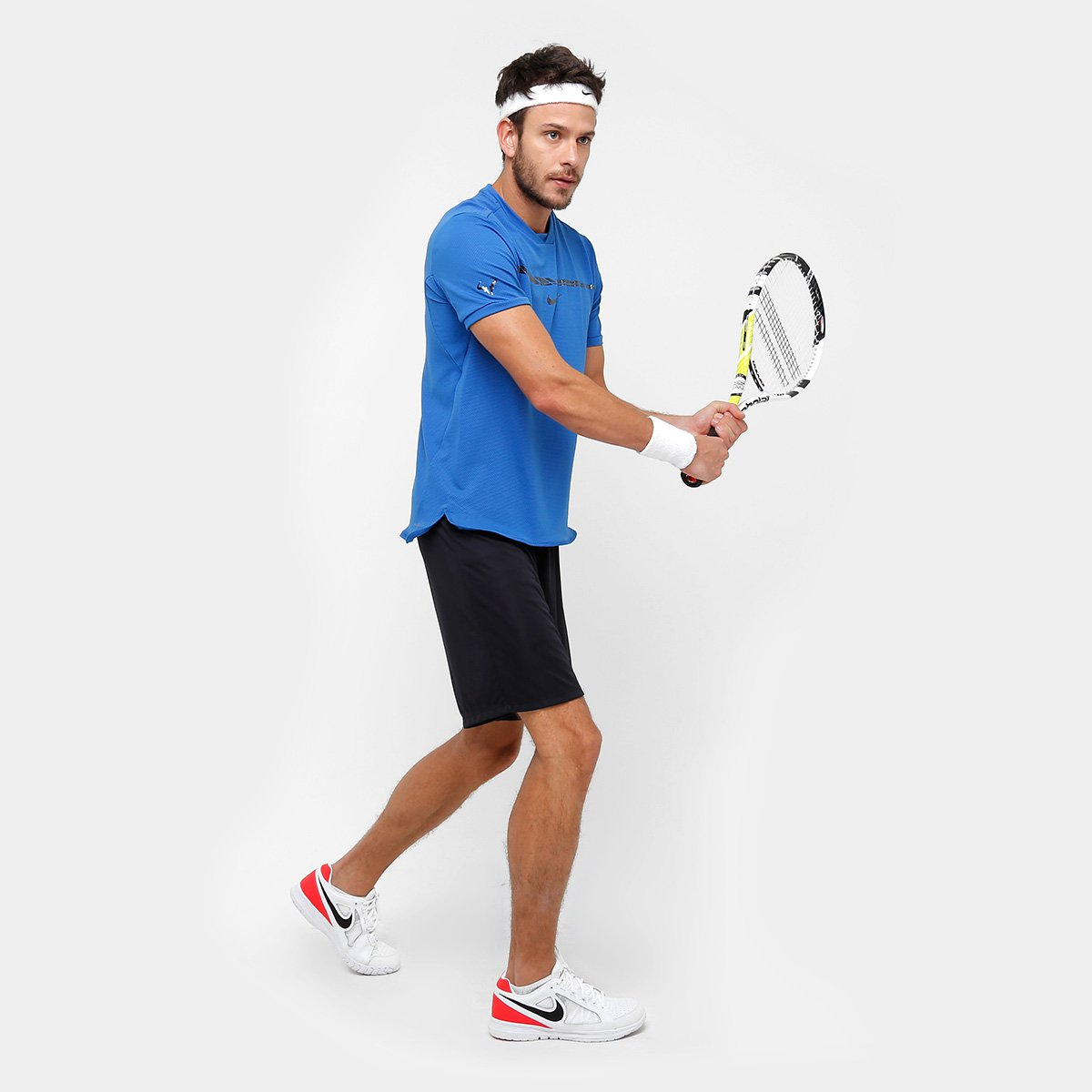 Camiseta Nike Rafael Nadal AeroReact Challenge Masculino ...