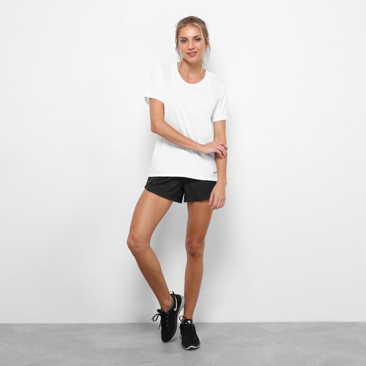 Camiseta Nike Run Ss Feminina - Branco - Compre Agora  38b4cd72f91ed
