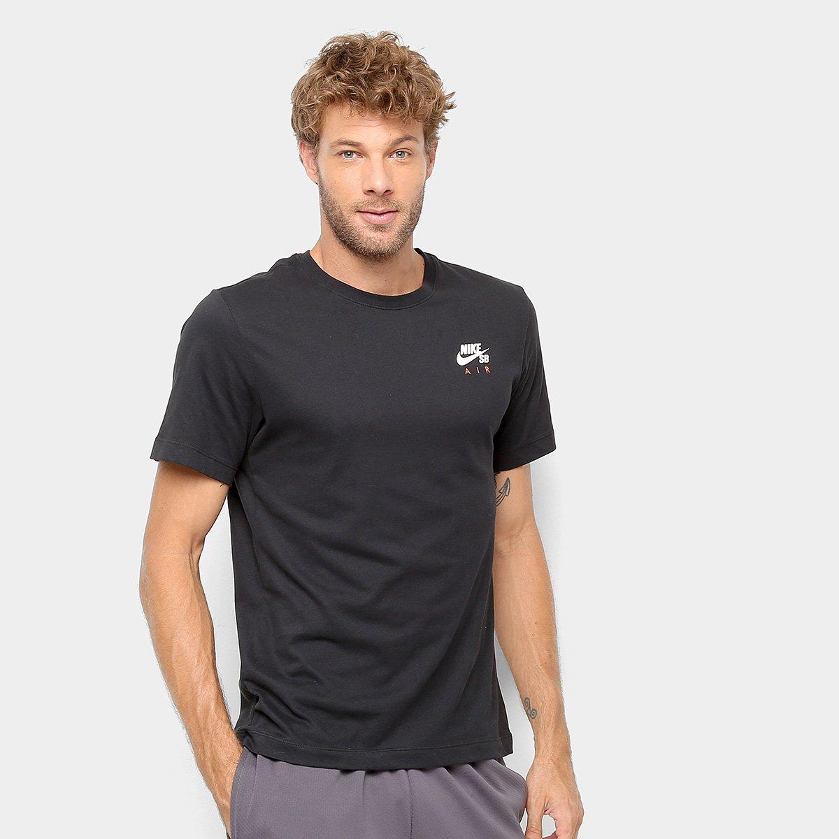 e34b51e0f4c17 Camiseta Nike SB Básica Estampada Dry Air Masculina - Preto - Compre Agora