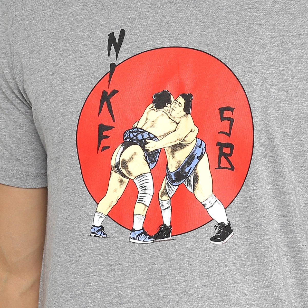 263417a64b Camiseta Nike SB Estampada Tee Wrestler Masculina - Mescla - Compre ...