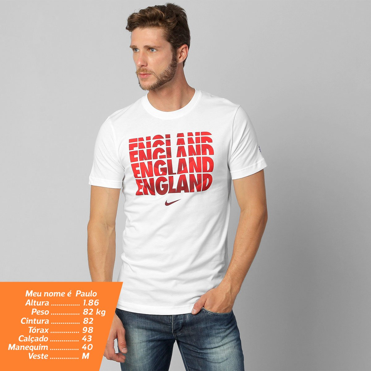 39c878d951298 Camiseta Nike Seleção Inglaterra Core Type - Compre Agora