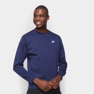 Camiseta Nike Sportwear Club Crew Manga Longa Masculina