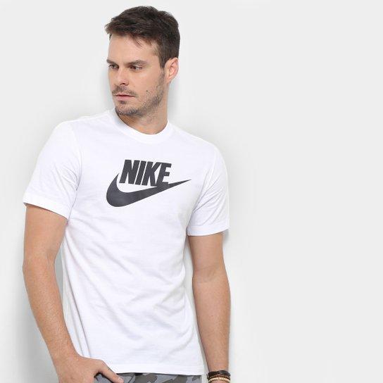 Camiseta Nike Sportwear Icon Futura Masculina - Branco+Preto