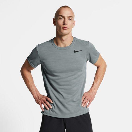 Camiseta Nike Superset Masculina - Cinza+Preto