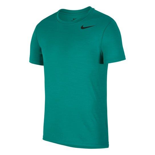 Camiseta Nike Superset Masculina - Verde+Preto