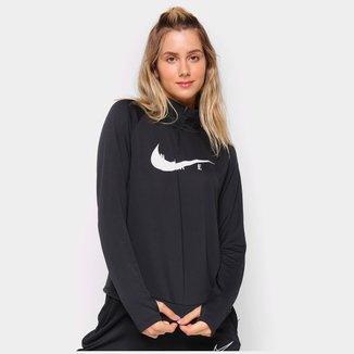 Camiseta Nike Swoosh Run Manga Longa Feminina