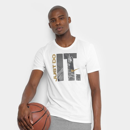 Camiseta Nike Team Do It Masculina - Branco