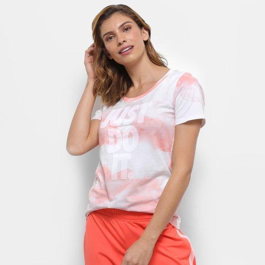 Camiseta Nike W Nsw Scoop Jdi Wash Feminina - Coral