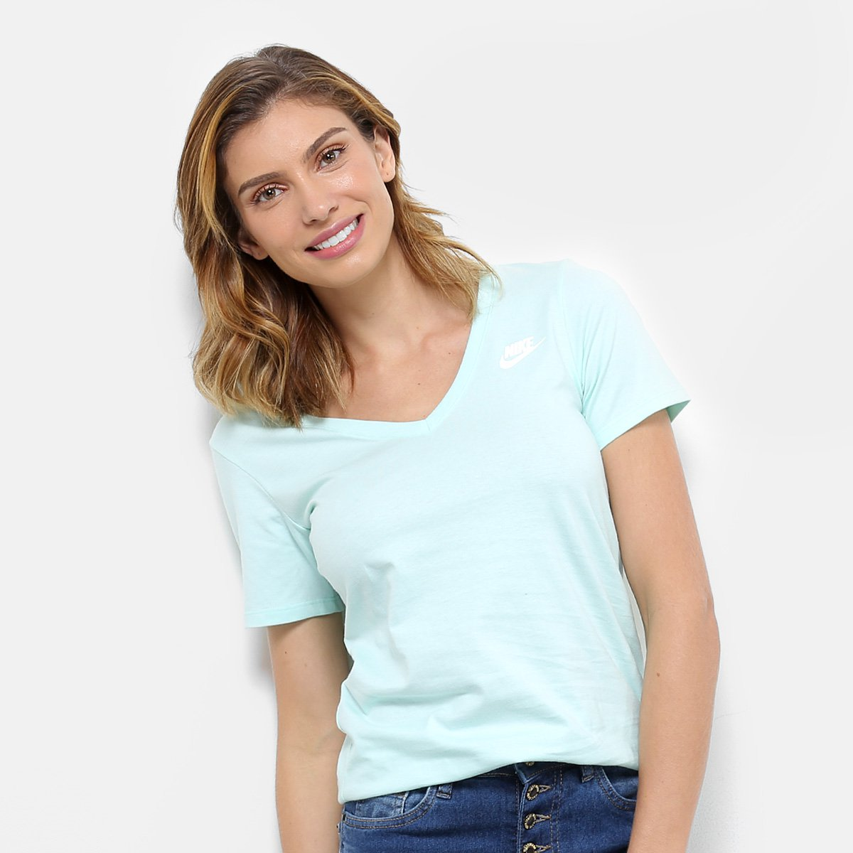Vneck W Camiseta Verde Lbr água Nike Feminina Camiseta Nsw Nike SttAXqw